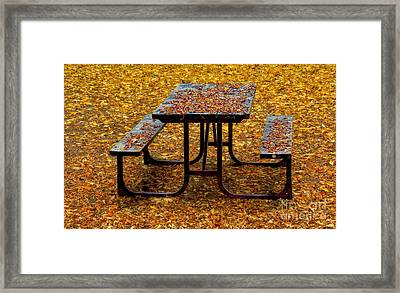 Closed For The Season Framed Print by Henry Kowalski