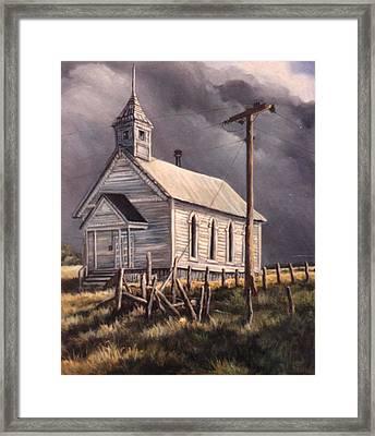 Closed On Sundays Framed Print by Donna Tucker