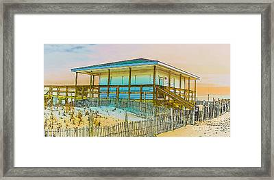 Closed Seaside Heights Boardwalk Framed Print by Gary Keesler