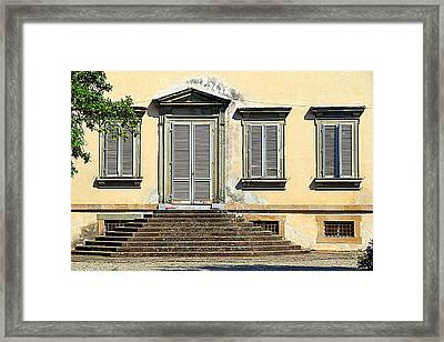 Closed Framed Print by Valentino Visentini