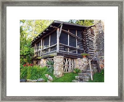 Closer View Of The Cabin Framed Print by Robert Margetts