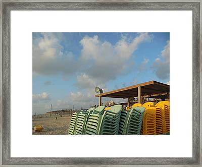 Closing Time Framed Print by Esther Newman-Cohen