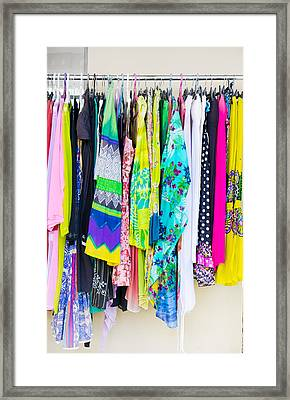 Clothes Rack Framed Print by Tom Gowanlock