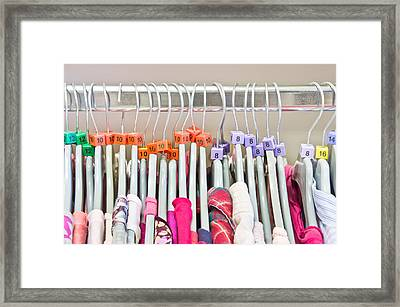 Clothes Sizes Framed Print by Tom Gowanlock