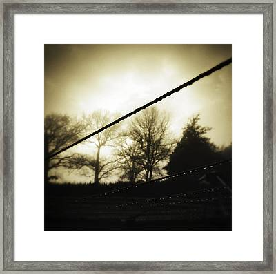 Clotheslines  Framed Print by Les Cunliffe