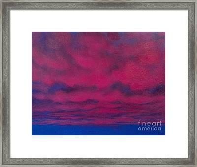 Cloud Art Framed Print by Cynthia Vaught