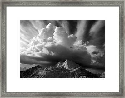Cloud Burst Framed Print by Stephen Mack