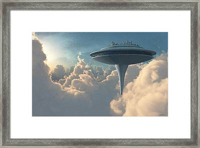 Cloud City Framed Print by Cynthia Decker