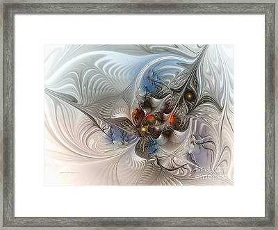 Cloud Cuckoo Land-fractal Art Framed Print by Karin Kuhlmann