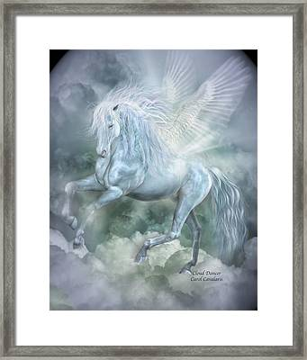 Cloud Dancer Framed Print by Carol Cavalaris