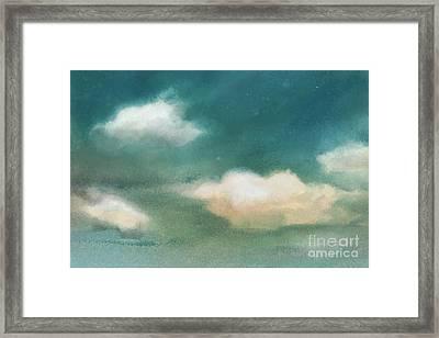 Cloud Diptych Left Framed Print by Joan A Hamilton