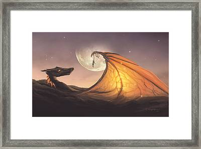 Cloud Dragon Framed Print by Cassiopeia Art