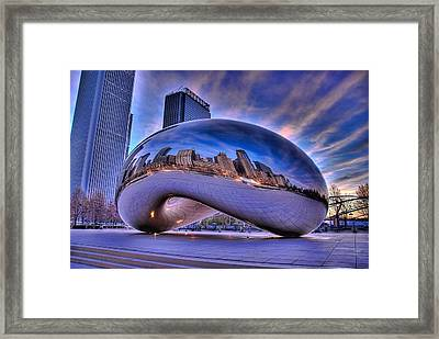 Cloud Gate Framed Print by Jeff Lewis