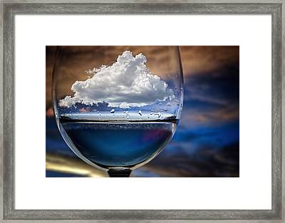 Cloud In A Glass Framed Print by Chechi Peinado