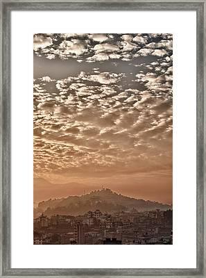 Cloud Over Kathmandu Framed Print by Ulrich Schade