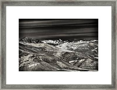 Cloud Streaks Over The Andes Framed Print by John Rizzuto