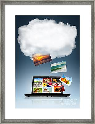 Cloud Technology Framed Print by Carlos Caetano