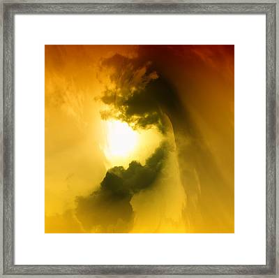 Cloud Whirl Framed Print by Jeff Swan