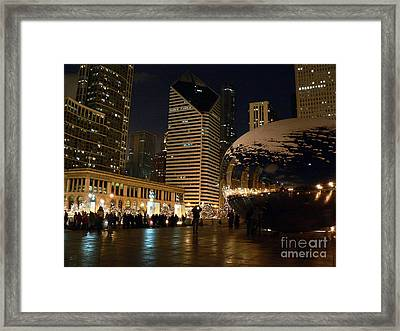 Cloudgate In Snow Framed Print by David Bearden