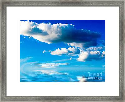 Clouds And Sea Framed Print by Boon Mee