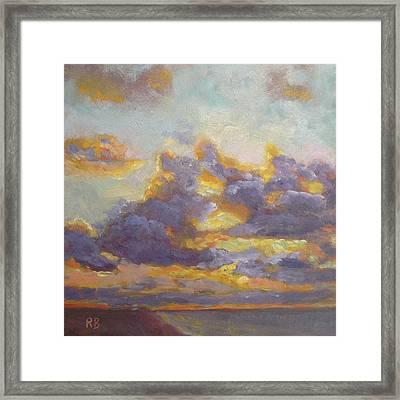 Clouds At Sea Framed Print by Robie Benve