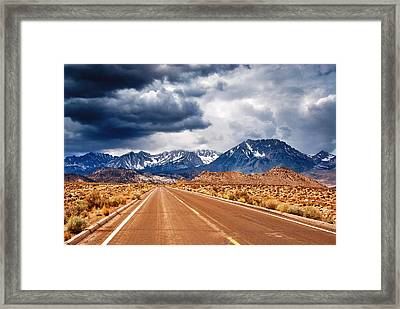 Clouds Of Doubt Framed Print by Aron Kearney