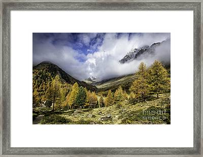 Clouds Of Pontresina Switzerland Framed Print by Timothy Hacker