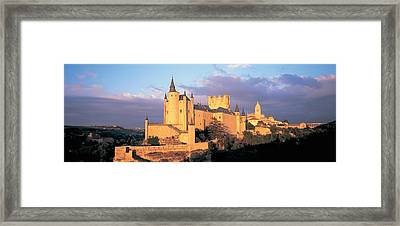 Clouds Over A Castle, Alcazar Castle Framed Print by Panoramic Images