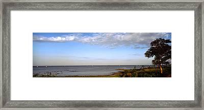 Clouds Over A Lake, Lake Victoria, Kenya Framed Print by Panoramic Images