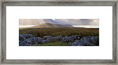 Clouds Over A Landscape, Ingleborough Framed Print by Panoramic Images
