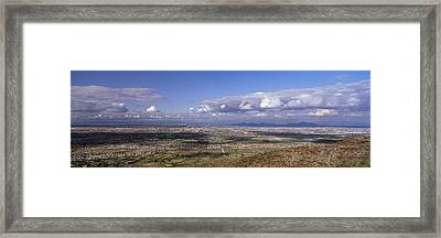 Clouds Over A Landscape, South Mountain Framed Print by Panoramic Images