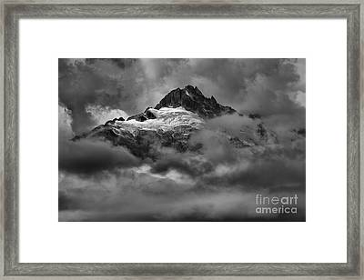 Clouds Over Canadian Glaciers Framed Print by Adam Jewell