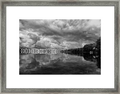 Clouds Over Crystal Lake Framed Print by Kevin Kludy