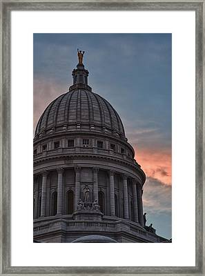 Clouds Over Democracy Framed Print by Sebastian Musial