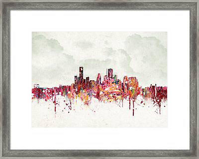 Clouds Over Houston Texas Usa Framed Print by Aged Pixel