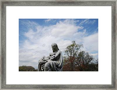 Clouds Over Mother And Twins Framed Print by Jennifer Ancker