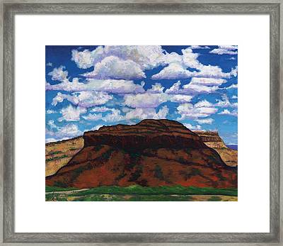 Clouds Over Red Mesa Framed Print by Joe  Triano