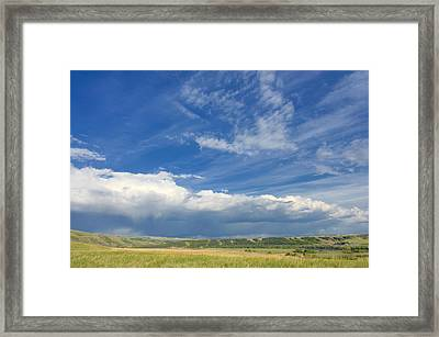 Clouds Over The Foothills Framed Print by Heather Simonds