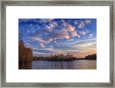 Clouds Over The River Framed Print by Marvin Spates