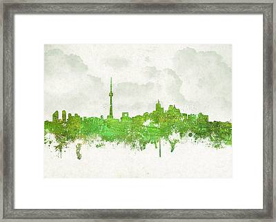 Clouds Over Toronto Canada Framed Print by Aged Pixel