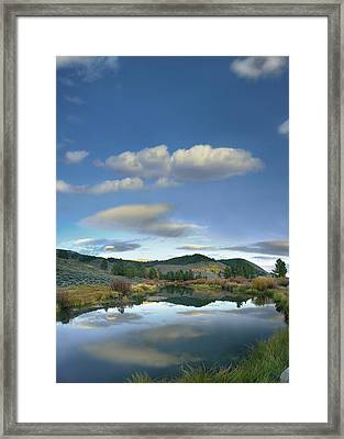 Clouds Reflected In Salmon River Idaho Framed Print by Tim Fitzharris