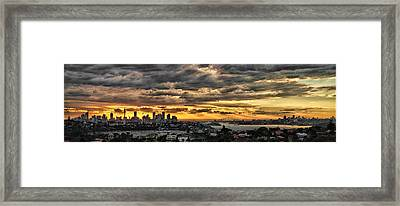 Clouds Rose Over The City Framed Print by Andrei SKY