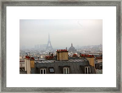 Cloudy Day In Paris Framed Print by Peter Cassidy