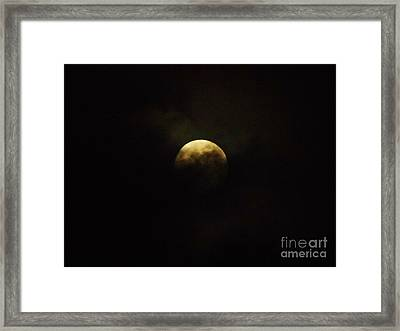 Full Moon In The Clouds Framed Print by D Hackett