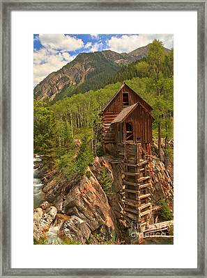 Cloudy Over Crystal Framed Print by Adam Jewell