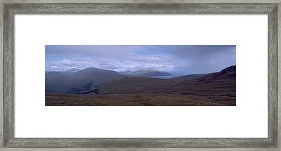 Cloudy Sky Over Hills, Blackwater Framed Print by Panoramic Images