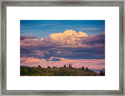 Cloudy Sunset Framed Print by Omaste Witkowski