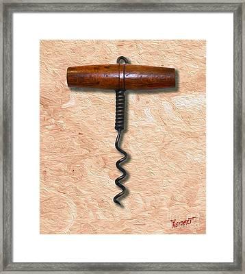 Clough Corkscrew Painting 2 Framed Print by Jon Neidert