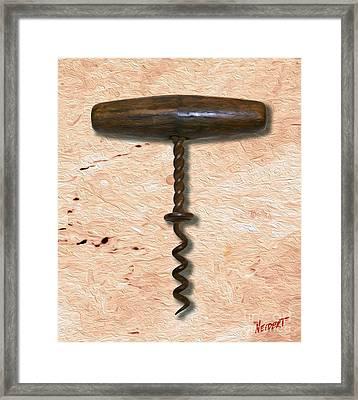 Clough Corkscrew Painting 4 Framed Print by Jon Neidert