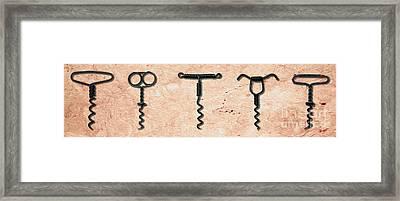Clough Single Wire Corkscrews Painting Framed Print by Jon Neidert